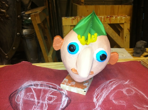 A puppet from COMM 377 - Puppetry, Spring 2014.