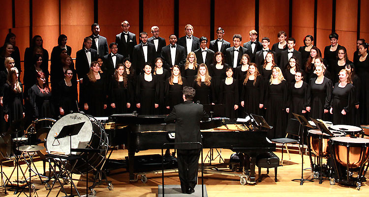 UW-Superior choral ensembles perform concerts and tour internationally.