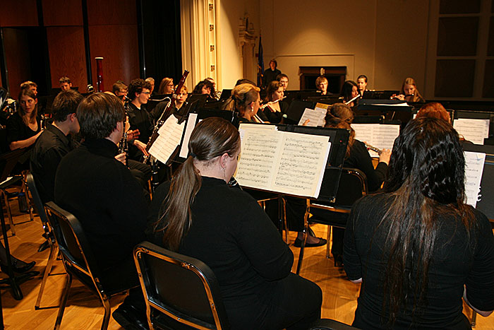 UW-Superior's band performs at the Tri-State Honors Band Festival