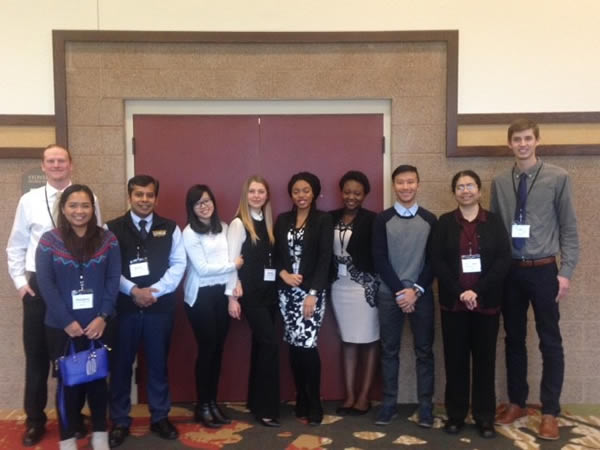 Economics students and faculty participating in Wisconsin Economics Association Conference, 2017