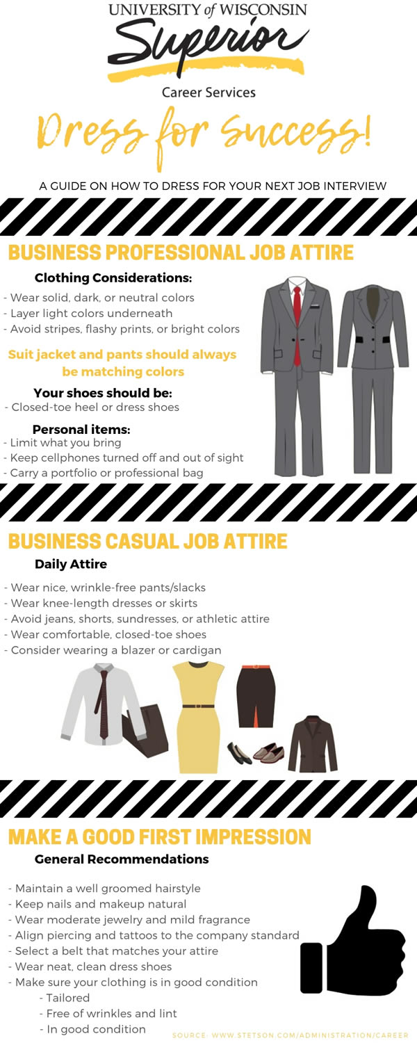 Dress for Success! Infographic