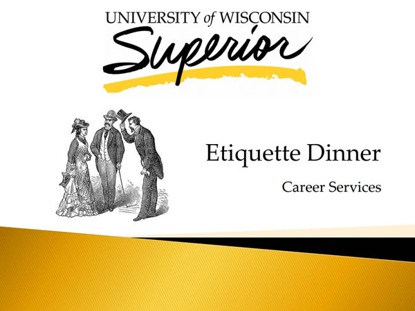 Etiquette Dinner Presentation by Career Services Screenshot