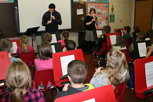 UW-Superior AS-L students teach music to pupils