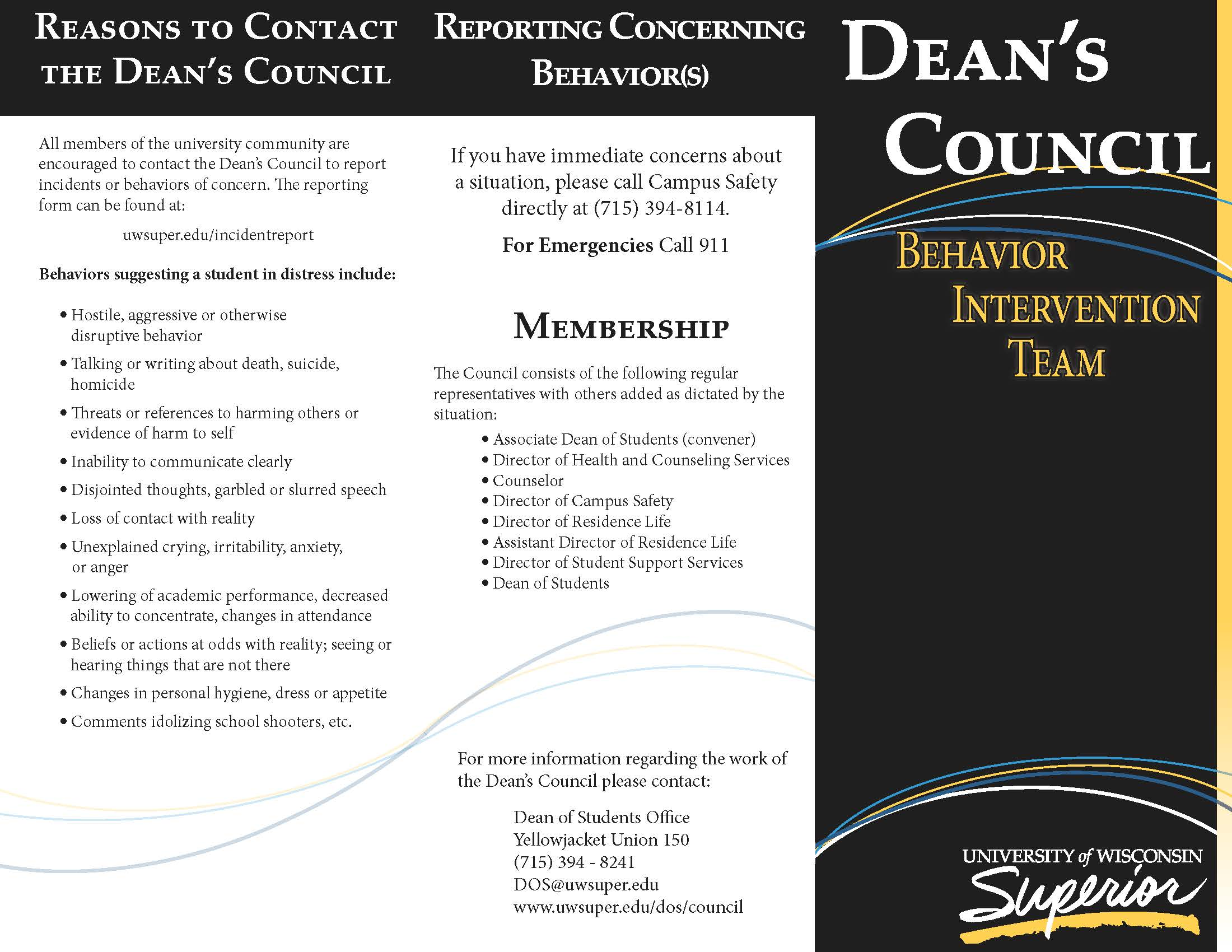 Deans Council Brochure