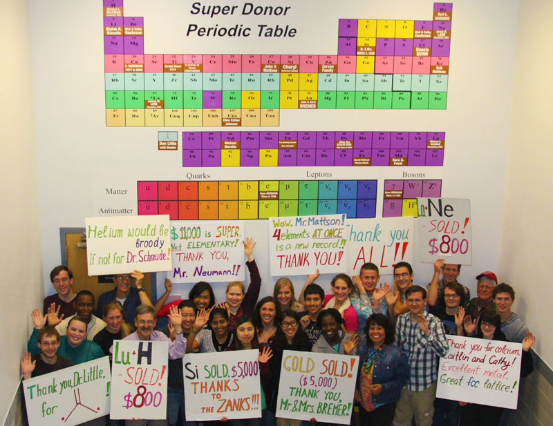 Super Donor - Chemistry/Physics students and faculty