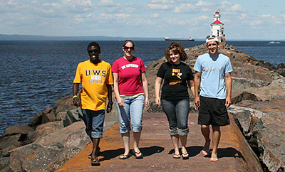 UW-Superior students on Wisconsin Point
