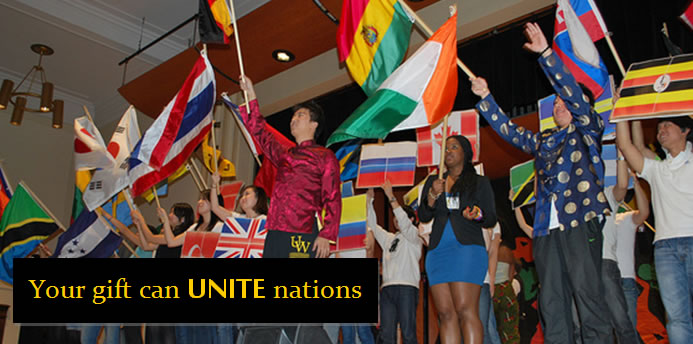 Your gift can UNITE nations