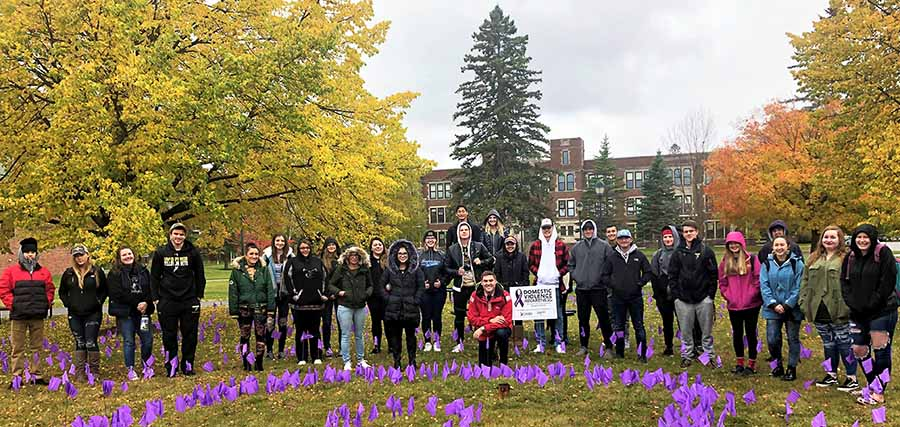 Students from the Law & Human Behavior LSTU 115 course