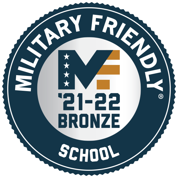 Bronze Military Friendly School badge
