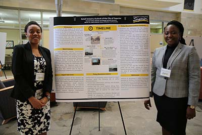 UW-Superior students Omiwale Opeyemi and Obiageli Ekwunwa
