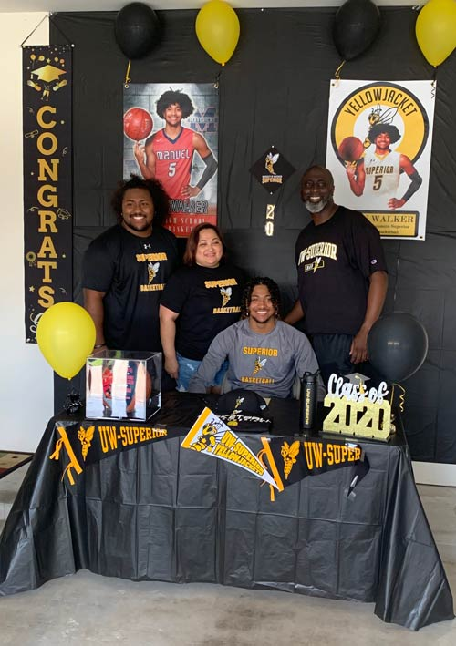 J'Vaun Walker celebrates Signing Day with his family