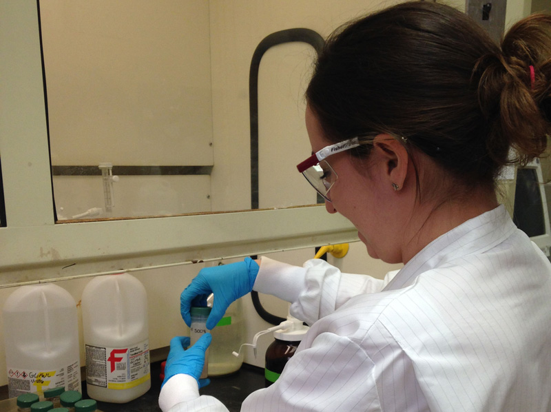 Kimberly Beesley  Adding hydroxylamine hydrochloride to digested fish samples prior to mercury analysis