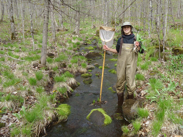 Surveying streams in the spring