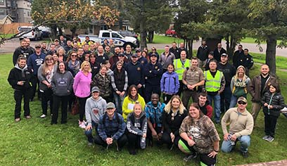 UW-Superior students plus all law enforcement professionals who participated in the C.A.R.T. training.