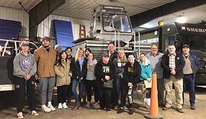 Criminal Justice students tour St Louis County Sheriff's Emergency Management Center