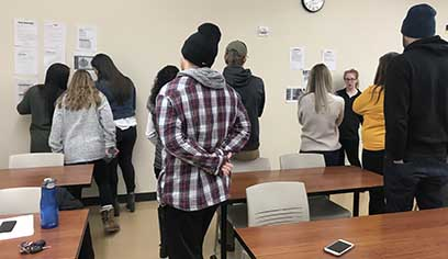 On the first day of CJUS448 Criminology, assistant professor Allison Willingham polled her students to see what they felt caused criminal, delinquent, or deviant behaviors.