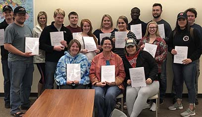 UW-Superior's Criminal Justice 374 Research Methods in Criminal Justice class worked with eight community partners in law and justice organizations on 16 real-world literature reviews.
