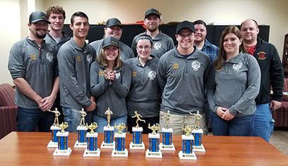 Criminal Justice Student Association win awards at the regional competition.