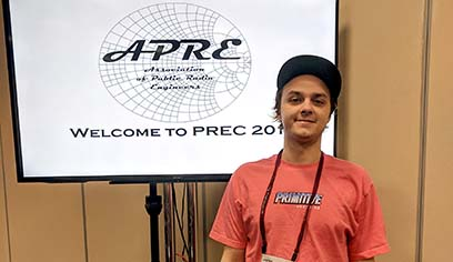 UW-Superior student attends prestigious Public Radio Engineers Conference