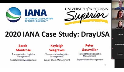 Transportation and Logistics Management student team places second in national academic competition
