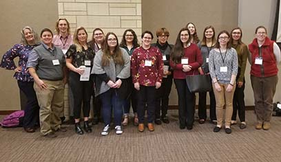 UW-Superior Inkblots and faculty attending the MidBrain Conference.