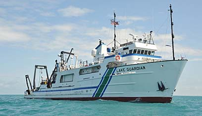 UWS professor conducts research on Lake Erie aboard EPA's Lake Guardian Research Vessel