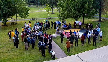 Campus community gathers at Medicine Wheel to kick off the school year