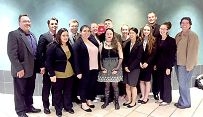 The UW-Superior Mock Trial team began its 2017-18 season at the University of Minnesota-Twin Cities 10th annual UMNUMB invitational on October 13-15, 2017.