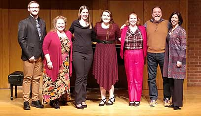 The UW-Superior Music Department hosted internationally renowned opera singers Mark Calkins and Cynthia Lawrence. The duo lead a voice master class, observed teaching, and shared professional advice with students.