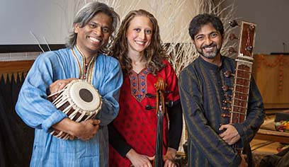 The University of Wisconsin-Superior Music Department will host internationally recognized world music artists the Om Shalom Trio.