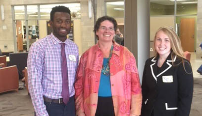 UW-Superior students Greg Pitts and Reggie Semanko celebrated the successful conclusion of individual Senior level research projects. Dr. Maria Stalzer Wyant Cuzzo was the McNair mentor for both projects.