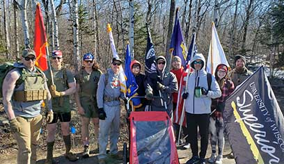 A 10-member team from UW-Superior took part in 23rd Veteran's Nearly Naked Ruck March in Duluth.