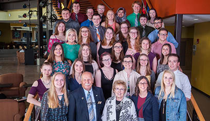 Jim and Sue Swenson with the 2018 Swenson Scholars.