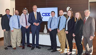 Students travel to Jacksonville, Florida, to meet UWS alumnus and CSX President and CEO