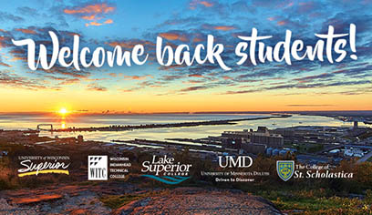 All together now: 'Welcome back students!'
