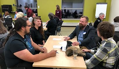 "Students in Writing Major Attend ""Careers in Writing Night"""