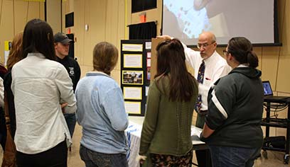 Students host interactive refugee exhibit