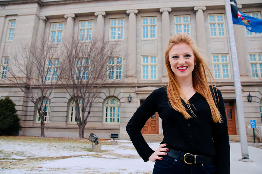 Sydney is gaining invaluable real-world experience at UWS with an internship at the District Attorney's Office, a Newman Civic Fellowship, and volunteering with the Center Against Sexual and Domestic Abuse (CASDA).