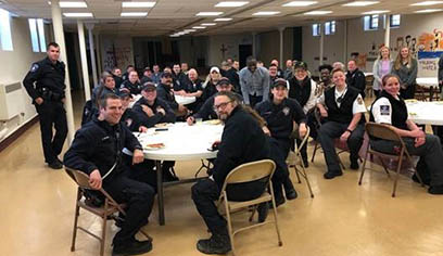 Criminal justice students sponsored thank-you luncheon for first responders in region