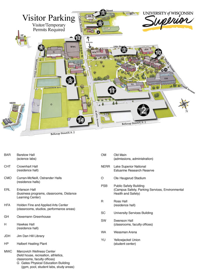 Parking Map for Visitors
