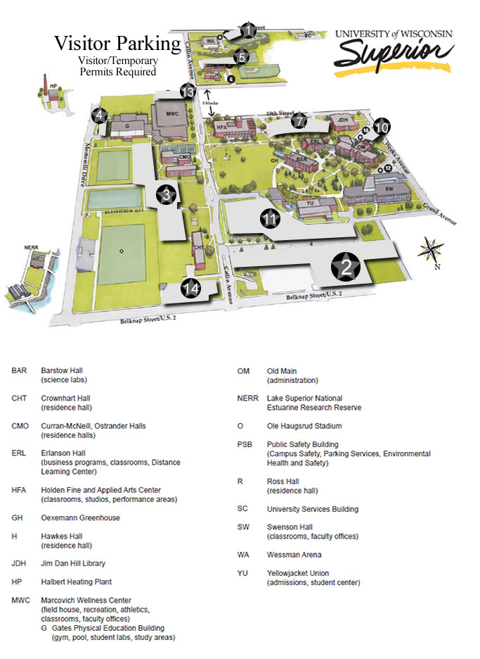 Parking Map: Visitor Permits