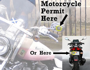 parking permit for motorcycle