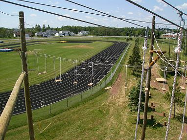 Outdoor Track located by Wessman Arena