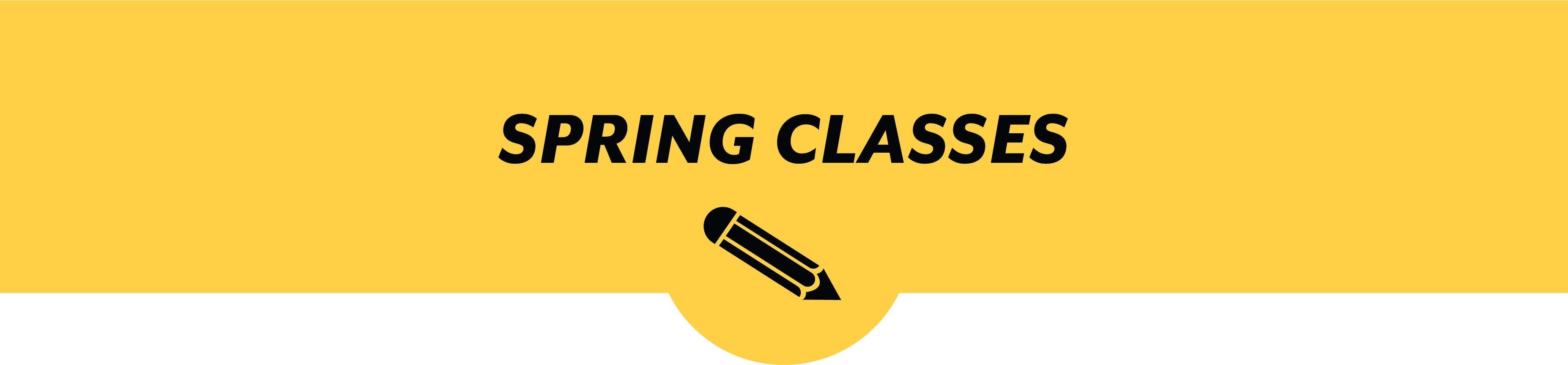 Spring Classes Banner
