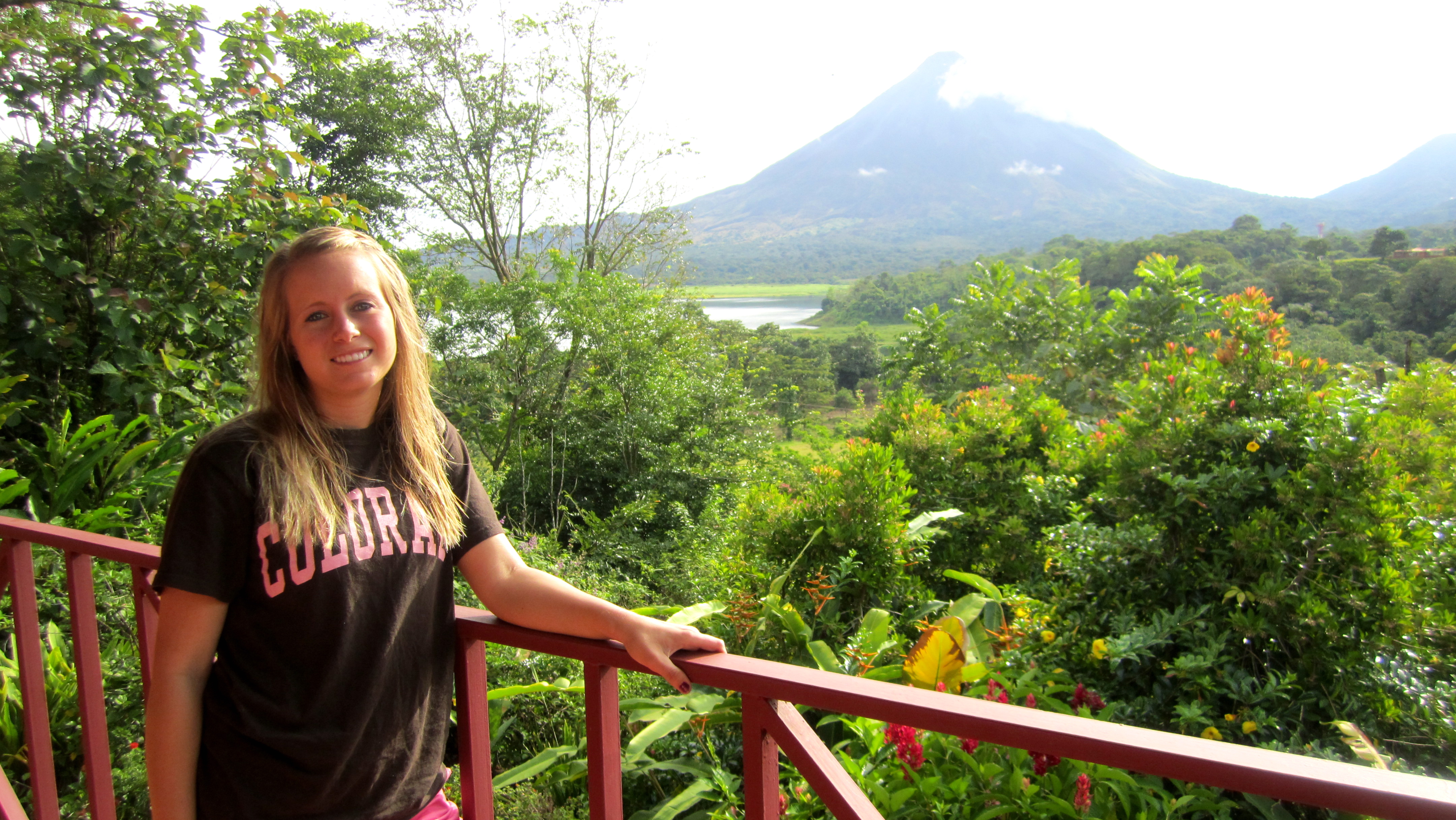 Kelly at La Fortuna, CR