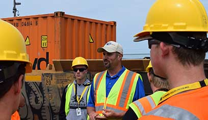 Transportation and Logistics Research Center hosts Rail and Intermodal Summer Youth Program