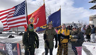 UW-Superior marches for 23rd Veteran organization